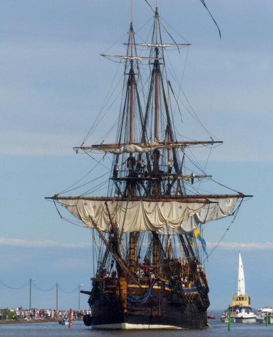 motomarine, bateau, voile, bateau, voilier, frégate, bateau de cargaison