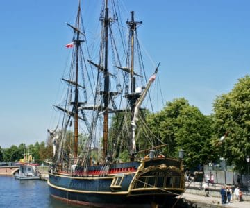 watercraft, ship, boat, sail, sailboat, water, blue sky, harbor