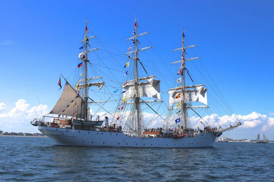 船舶, 船, 船, 帆, 水, 海, 海盗, 海港, 蓝天