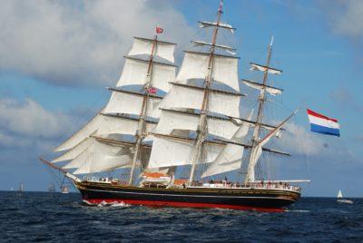 skutera, jedro, jedrenjak, brod, plavo nebo, brod, mornarica, more, jahte