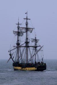 perahu, kapal, laut, perahu, kabut, air, berlayar, laut, bajak laut
