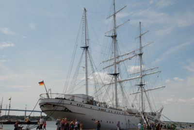 watercraft, ship, harbor, sea, vehicle, boat, water, blue sky