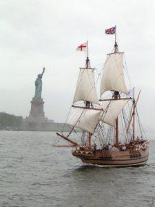 urban, statue, watercraft, ship, boat, sail, sailboat, water, sea, pirate