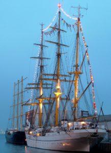 watercraft, ship, boat, sail, sailboat, navy, mast, dawn