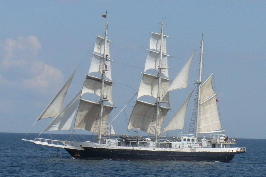 perahu layar, perahu, berlayar, kapal, horizon, putih, kapal, yacht, air