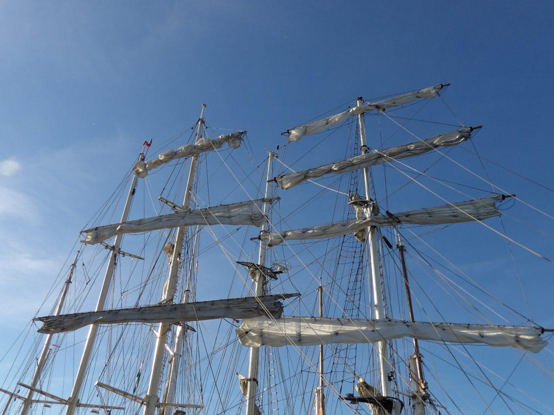 плавателни съдове, платноходка, платно, кораб, мачта, небе, вятър, лодка