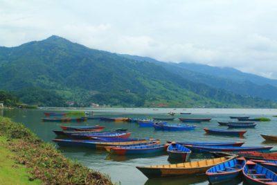 물, 선박, 보트, 운, 산, 호수, 자연, 바다