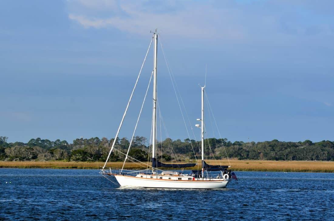 Wasser, Himmel, Segelboot, Boot, Yacht, Meer, Schiff, Katamaran