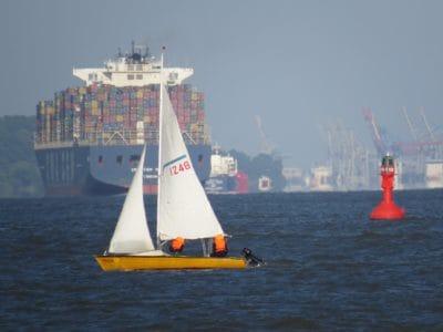 cargo ship, watercraft, water, sea, ship, boat, vehicle, ocean, harbor