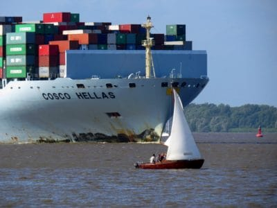 cargo ship, cargo, transport, watercraft, vehicle, water, ship, sea, boat, port, harbor