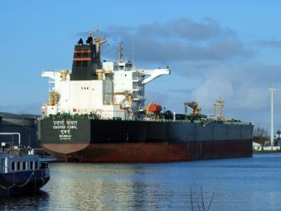 industrie, livraison, navire cargo, motomarine, bateau, eau, récipient