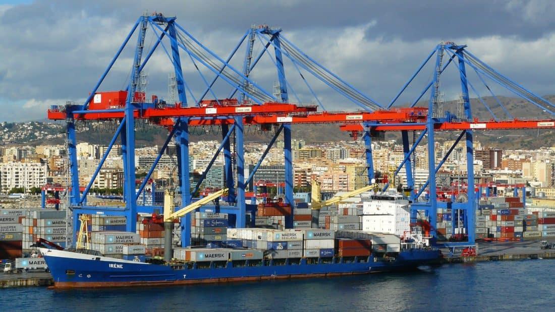 nave cargo, industria, urbano, città, Porto, moto d'acqua, nave, esportazione, molo, Porto, spedizione