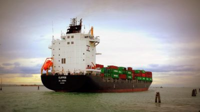 water, cargo ship, sea, ship, watercraft, industry, sky, port, boat