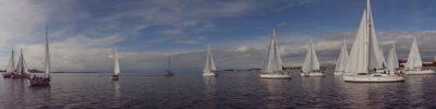 plachetnica, panorama, vody, vodné skútre, plachta, more, yacht, oceán
