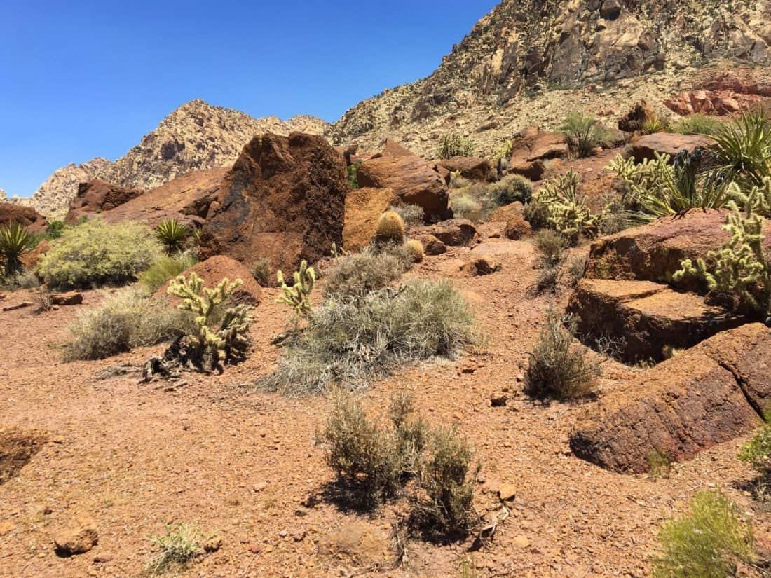 pouští, písek, suchý, hory, údolí, obloha, příroda