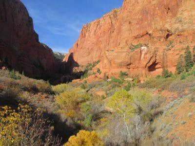 lanskap, canyon, gurun, langit biru, pasir, pegunungan, alam