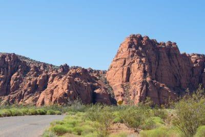 batu pasir, lanskap, gurun, langit, canyon, langit biru, tebing, lembah