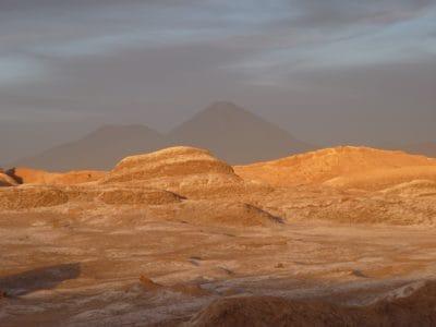 coucher du soleil, désert, nuage, paysage, aube, sable, dune, sol, terre