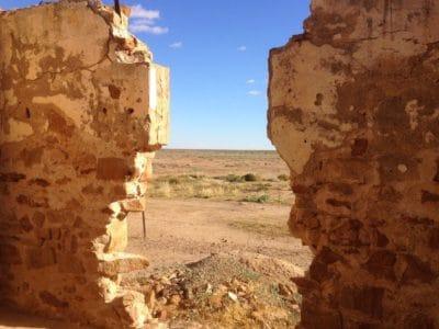 pietra, parete, cielo blu, deserto, canyon, paesaggio, pietra arenaria, rovina