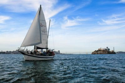 water, watercraft, sea, wind, blue sky, sailboat, boat, ship, yacht