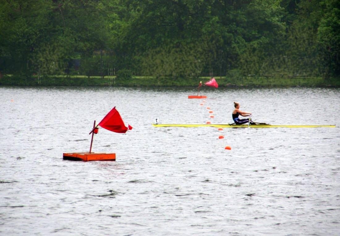 đi canoe, kayak, oar, chủng tộc, chèo thuyền, cạnh tranh, nước