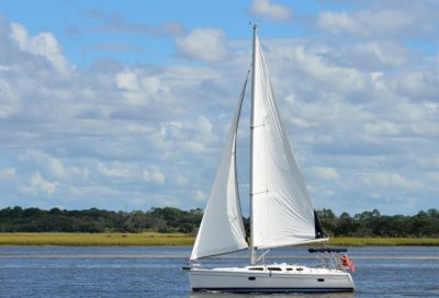 water, sailing, vehicle, watercraft, sailboat, yacht, boat, sail, catamaran