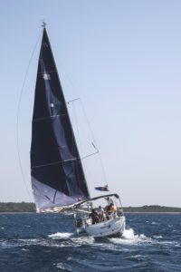 sailboat, teamwork, watercraft, yacht, sail, water, vehicle, boat