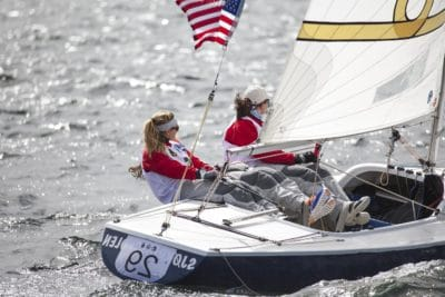 sailboat, boat, sailing, woman, sport, race, sport, watercraft, sail, water