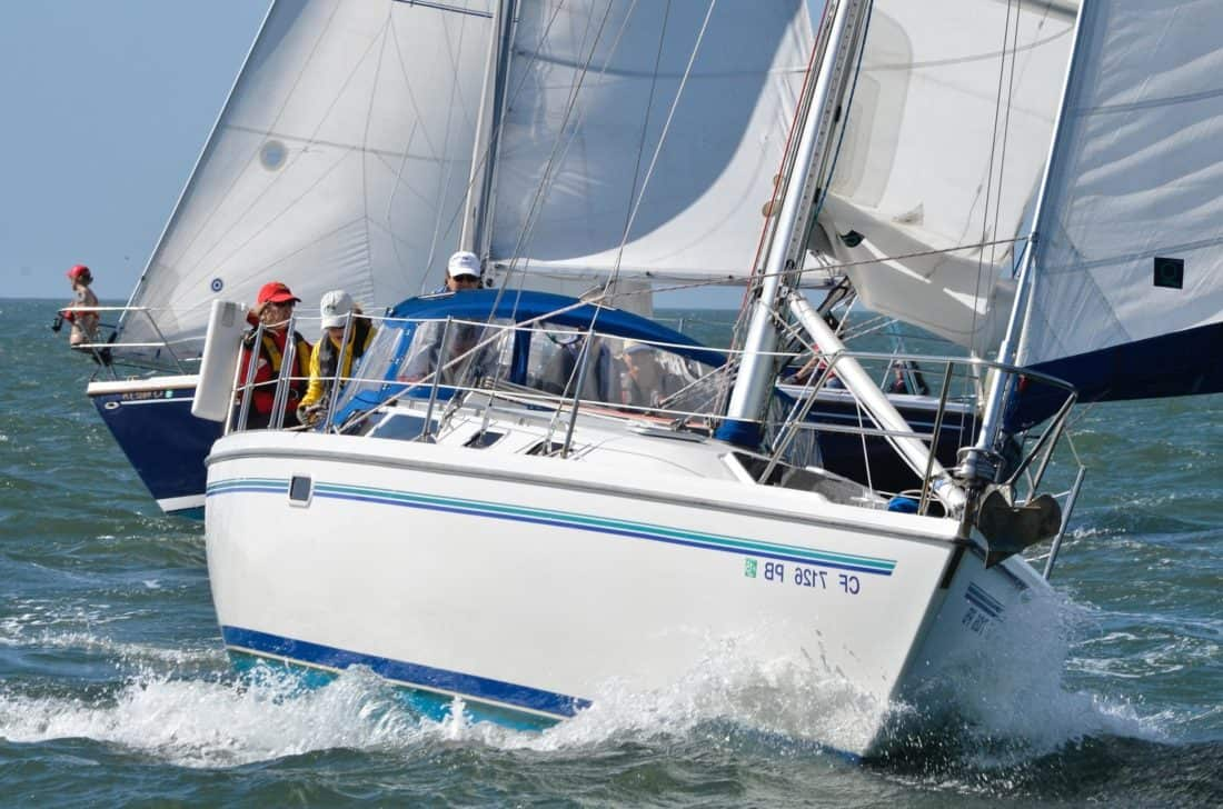 veleiro, iate, vela, esporte, corrida, vento, embarcações, barco, regata, água