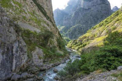 nature, paysage, été, eau, montagne, rivière, vallée