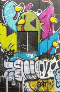 graffiti, vandalism, airbrush, street, mural, colorful