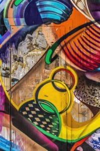 graffiti, street, front door, colorful, wall, pattern, artistic, vandalism, airbrush, urban, art