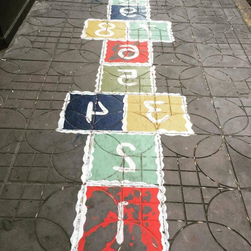 street, outdoor, brick, way, sidewalk, graffiti, urban, ground