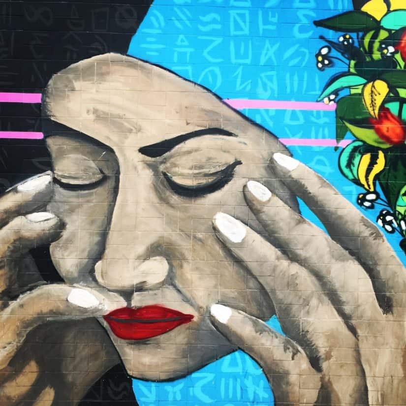 art, artistic, mask, hand, illustration, ueban, graffiti, wall