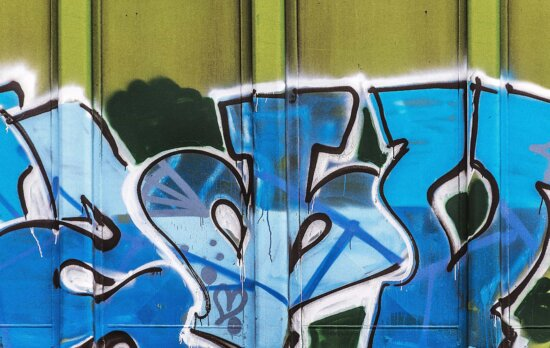 Graffiti, mur, vandalisme, texte, street, urbain, abstract
