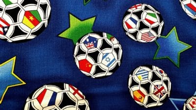 canvas, soccer, football, ball, sport, textil, fabric, decoration, colorful