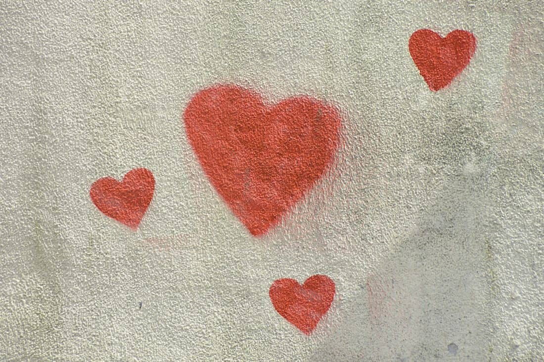 texture, abstract, pattern, design, wall, graffiti, heart, love, red