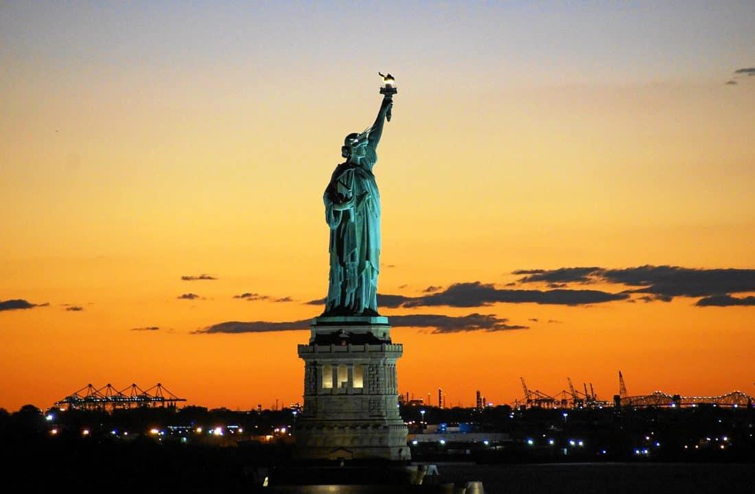 sunset, sky, statue, silhouette, monument, sunset, architecture, city, sculpture