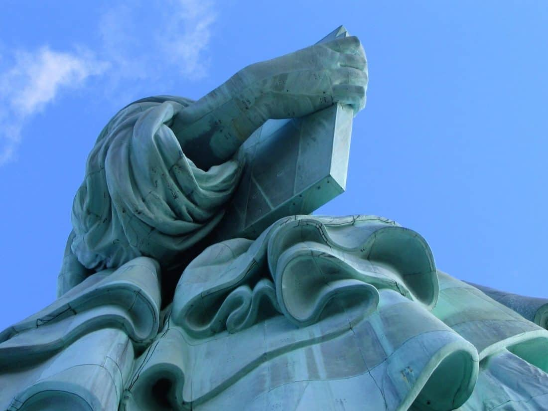 sculpture, statue, blue sky, art, monument, structure, outdoor