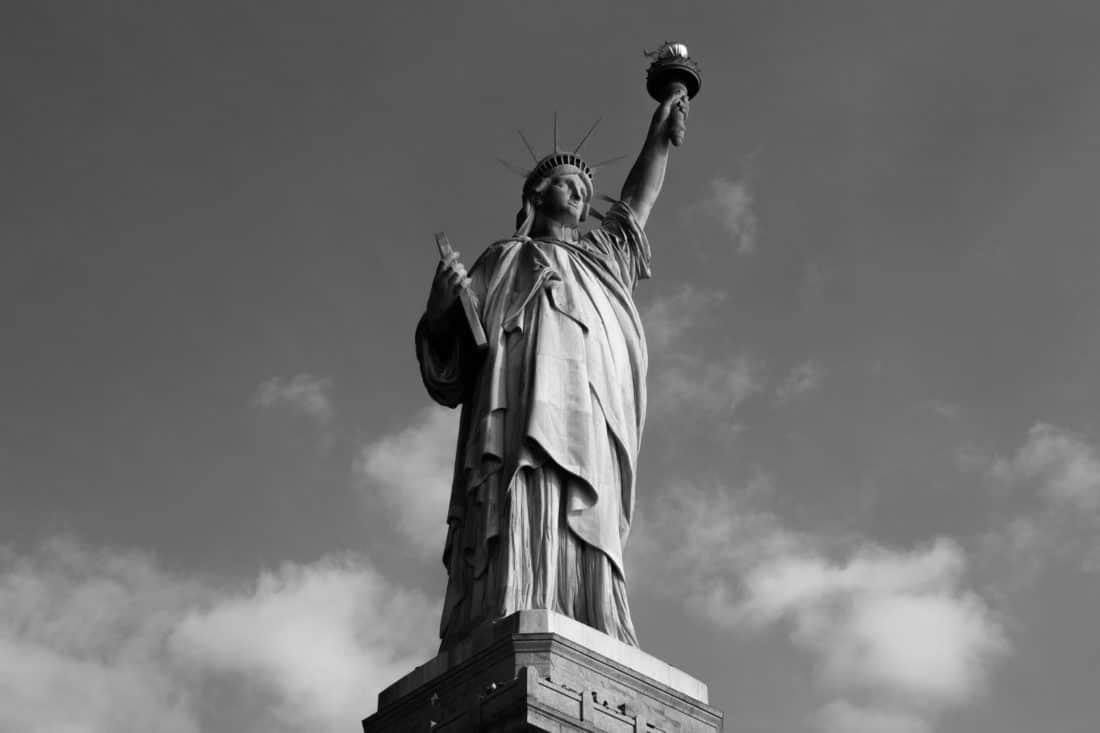 statue, gens, sculpture, piédestal, monument, architecture, monochrome