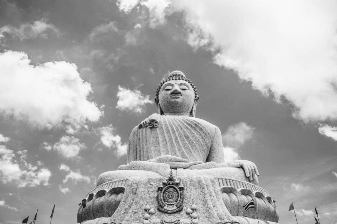Asia, statue, outdoor, sky, sculpture, religion, temple
