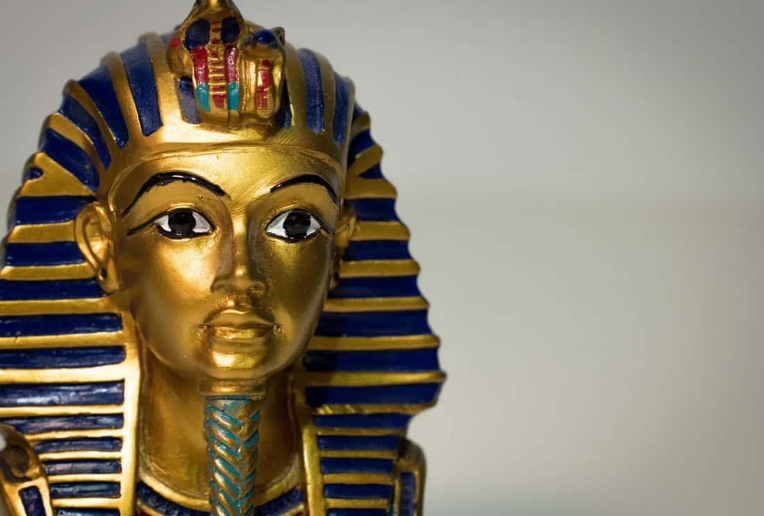 pharaoh, Egypt, sculpture, statue, art, religion, mask, gold