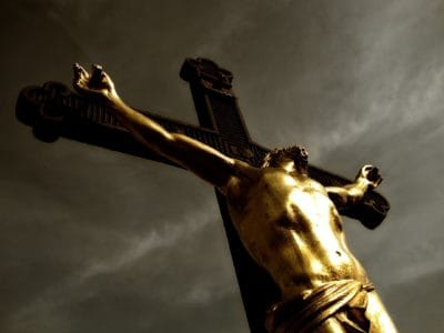 art, bronze, sculpture, statue, religion, people, Christ, cross