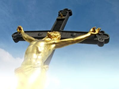 cielo, estatua, Cristo, cielo azul, la religión, la escultura cristiana