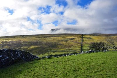 paisaje, pasto, nube, colina, pradera, campo, cielo, rural, agricultura