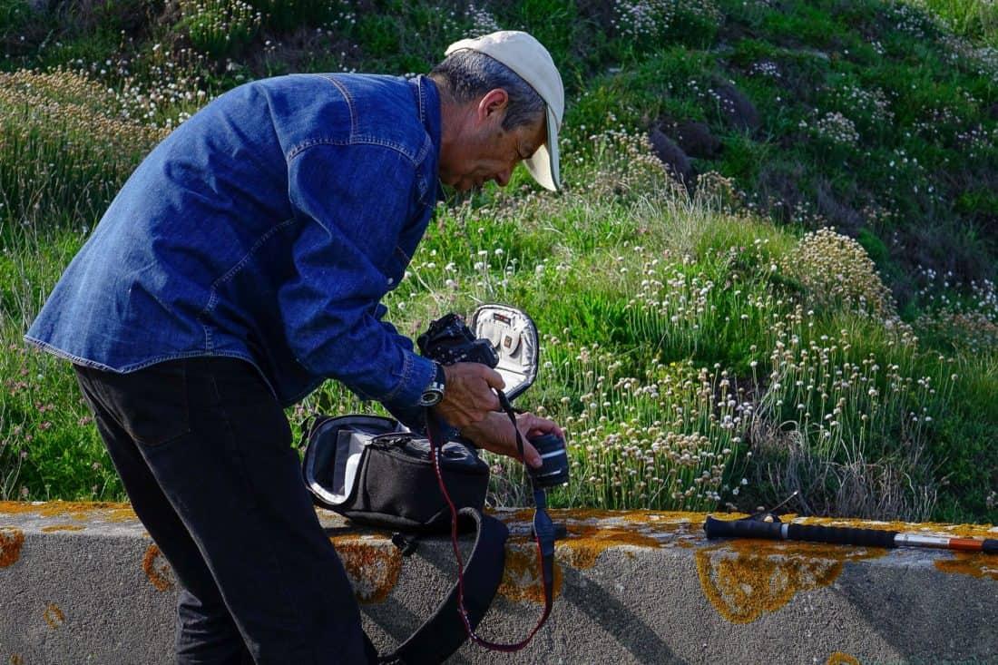 man, nature, photographer, grass, recreation, worker, outdoor
