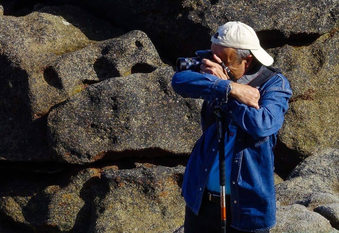 man, nature, stone, photographer, digital camera, outdoor, recreation