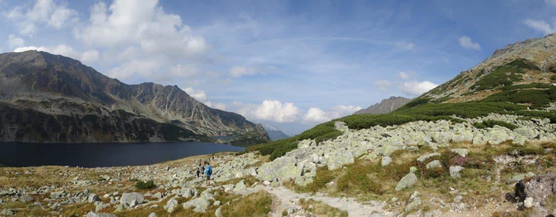 mountain, landscape, blue sky, stone, nature, daylight, glacier