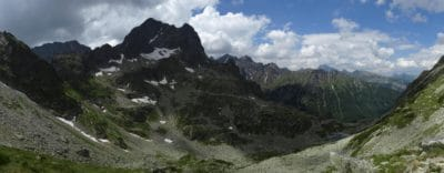 planine, krajolik, oblak, priroda, snijeg, plavo nebo, dolina, ledenjak
