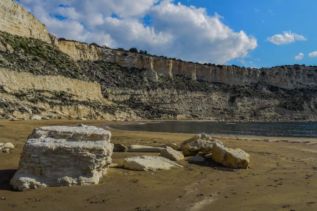 landscape, water, blue sky, stone, geology, erosion, outdoor, mountain